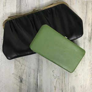 Bundle of vintage wallet and clutch